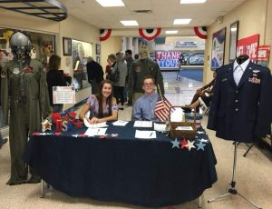 Welcome desk for Veterans
